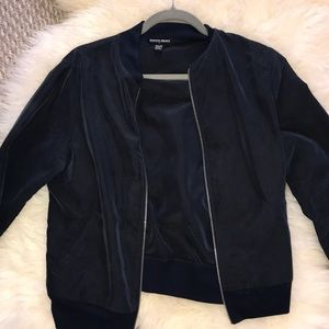 American apparel blue bomber jacket